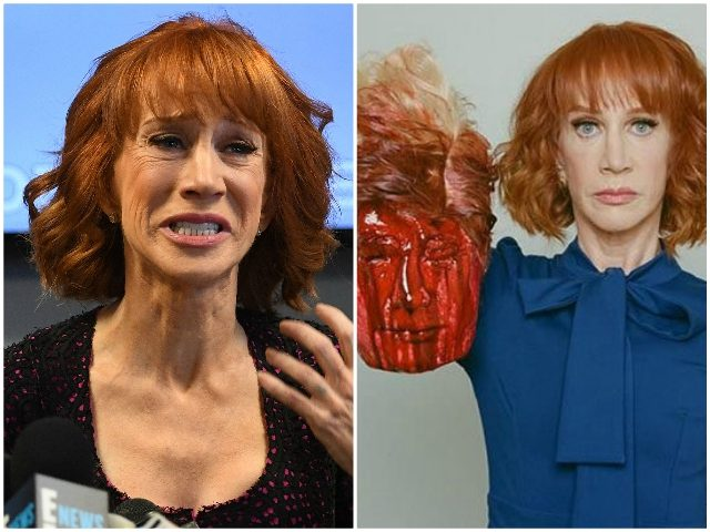 Kathy Griffin Blames Trump for Beheading Backlash Getty/TMZ