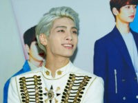 SEOUL, SOUTH KOREA - MAY 17: Jonghyun of South Korean boy band SHINee attends the 'SHINee World IV' press conference on May 17, 2015 in Seoul, South Korea. (Photo by Han Myung-Gu/WireImage)