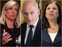 Kirstjen Nielsen, John Kelly, and Elaine Duke