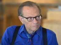 LOS ANGELES, CA - SEPTEMBER 13: TV/radio host Larry King attends a private luncheon hosted by The National Radio Hall of Fame and Larry King at Dodger Stadium on September 13, 2013 in Los Angeles, California. (Photo by Alberto E. Rodriguez/Getty Images)