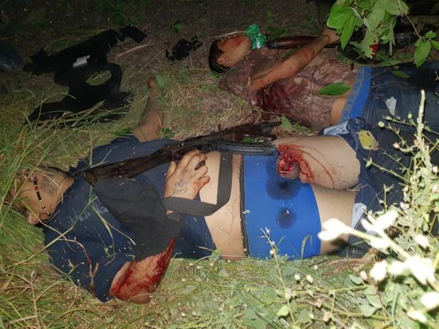 Graphic Seven Los Zetas Cartel Gunmen Killed In Mexican