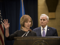 ST. PAUL, MN - DECEMBER 13: Minnesota Lt. Governor Tina Smith fields questions after being named the replacement to Sen. Al Franken by Governor Mark Dayton on December 13, 2017 at the Minnesota State Capitol in St. Paul, Minnesota. Franken resigned last week after multiple allegations of sexual harassment. (Photo by Stephen Maturen/Getty Images)
