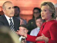 Matt Lauer, Hillary Clinton