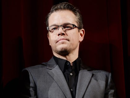 BERLIN, GERMANY - FEBRUARY 08: Matt Damon appears on stage at 'The Monuments Men' premiere during 64th Berlinale International Film Festival at Berlinale Palast on February 8, 2014 in Berlin, Germany. (Photo by Ian Gavan/Getty Images)