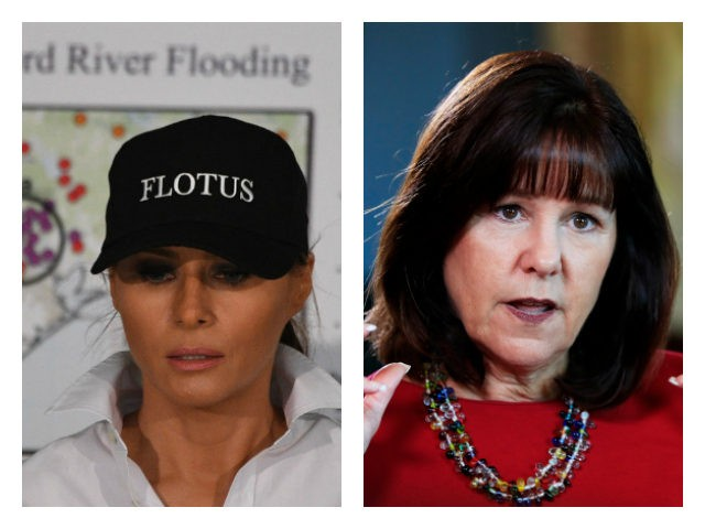 Melania Trump and Karen Pence collage