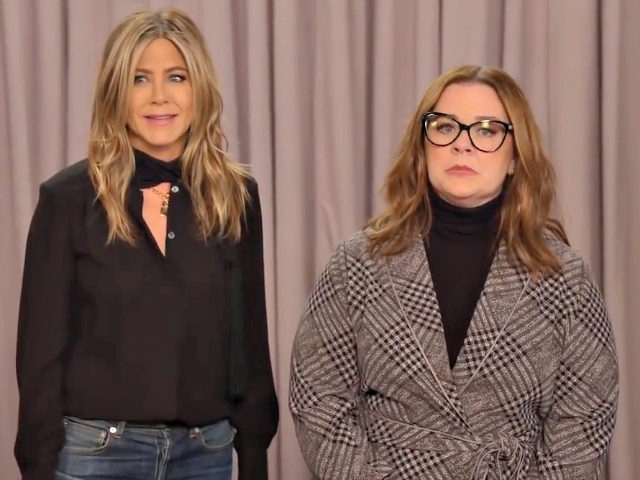 Melissa McCarthy, Jennifer Aniston fight over whether gravity is a hoax
