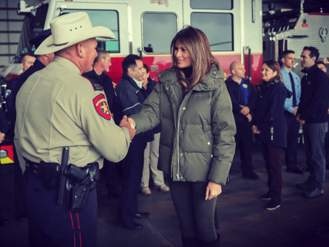 Mrs Trump Visits South Texas after Harvey