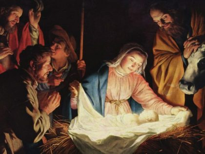 Nativity scene virgin birth