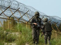 South Korea's military has fired warning shots at North Korean guards searching for a soldier who defected. The DMZ is one of the world's most heavily guarded strips of land.