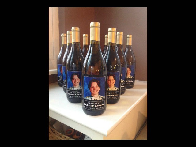 High Schooler\'s Parents Give Teachers Wine with Son\'s Face on Labels