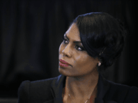 Omarosa Manigault, director of communications for the White House Office of Public Liaison, listens to Vice President Mike Pence speak during a listening session with the historically black colleges and universities at the Eisenhower Executive Office Building on the White House complex in Washington, Monday, Feb. 27, 2017. (AP Photo/Manuel …