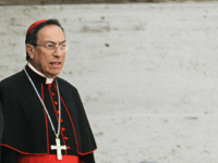 VATICAN CITY, VATICAN CITY STATE: Cardinal Oscar Andres Rodriguez Maradiaga of Honduras leaves the Paul VI hall at the end of the General Congregation assembly of the Cardinals at the Vatican, 14 April 2005. Cardinals start their conclave in the frescoed Sistine Chapel on April 18 and will vote twice …