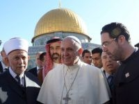 JERUSALEM, ISRAEL - MAY 26: (ISRAEL OUT) In this handout provided by the Israeli Government Press Office (GPO), Pope Francis visits the dome of the rock on May 26, 2014 in Jerusalem, Israel. Pope Francis arrived in Israel on Sunday afternoon, a day after landing in the Middle East for …