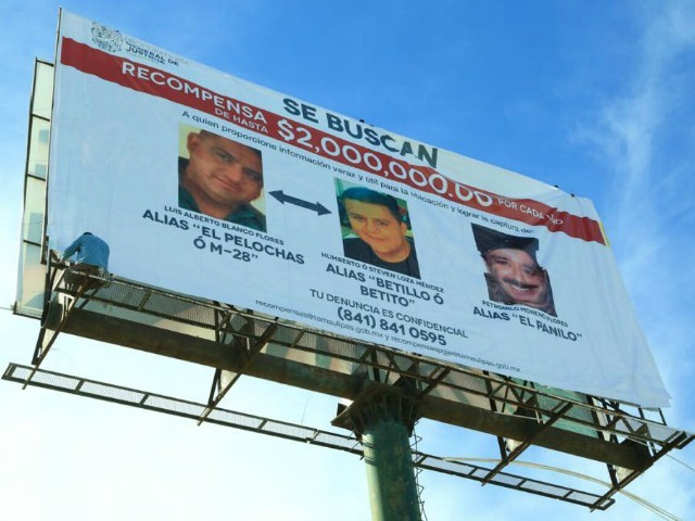 Mexican Border State Offers Reward for Top Cartel Bosses