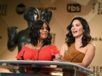 Actors Niecy Nash (L) and Olivia Munn speak at the 24th Annual Screen Actors Guild Awards Nominations Announcement at Silver Screen Theater on December 13, 2017 in West Hollywood, California. 2018 SAG Nominations. 27522_002. (Photo by Emma McIntyre/Getty Images)