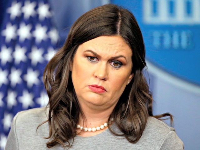 Sarah Sanders Accidentally Describes President Trump During Tirade Against 'Fake News' Media
