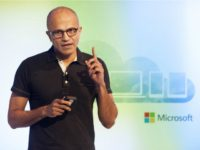 Satya Nadella, CEO of Microsoft, speaks at a media event in San Francisco, California on March 27, 2014. Microsoft is tapping into its software past as it maps its future in the rapidly changing world of Internet technology. Newly anointed Microsoft chief Satya Nadella on Thursday laid out a vision …