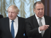 Sergey Lavrov and Boris Johnson