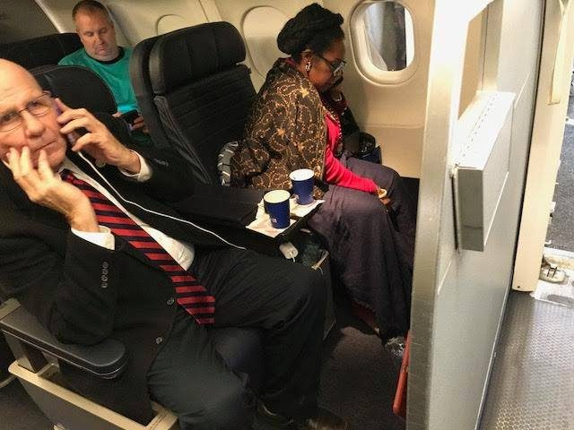 United Airlines reportedly issued an apology and a $500 voucher to passenger Jean-Marie Simon, who claimed that the airline gave Rep. Sheila Jackson Lee (D-TX) her seat in first class, but the passenger denied receiving an apology.