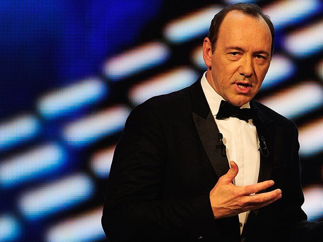 ABU DHABI, UNITED ARAB EMIRATES - FEBRUARY 07: Host Kevin Spacey during the award ceremony for the 2011 Laureus World Sports Awards at the Emirates Palace on February 7, 2011 in Abu Dhabi, United Arab Emirates. (Photo by Jamie McDonald/Getty Images for Laureus)