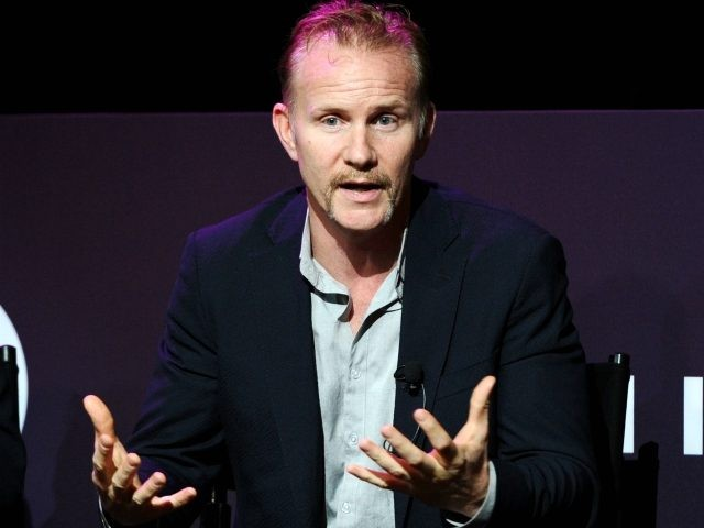 Warrior Poets Filmmaker, CEO and President Morgan Spurlock speaks onstage at The Evolution of Branded Content - From the Small Screen to the Big Screen (and back!) panel during Advertising Week 2015 AWXII at the Hard Rock Cafe New York on October 1, 2015 in New York City. (Photo by …
