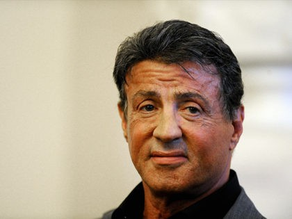 US actor and film director Sylvester Stallone speaks gives a press conference during the opening of the art exhibition 'Sylvester Stallone Painting From 1975 Until Today' at the Russian Museum in Saint Petersburg on October 27, 2013. Art lovers lined up on October 27 at the world's biggest museum of …