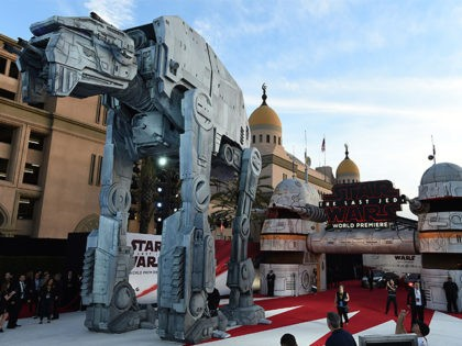 """A general view of atmosphere at the Los Angeles premiere of """"Star Wars: The Last Jedi"""" at the Shrine Auditorium on Saturday, Dec. 9, 2017 in Los Angeles. (Photo by Jordan Strauss/Invision/AP)"""