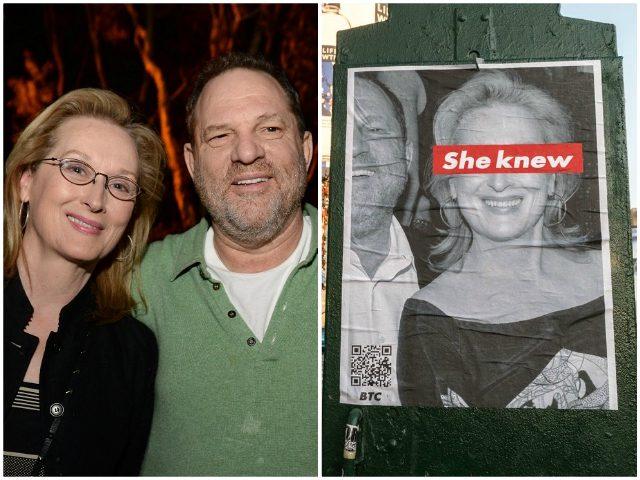 Streep Weinstein She Knew Posters AP/Twitter