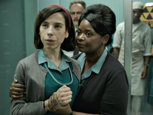 David Hewlett, Octavia Spencer, Sally Hawkins, and Deney Forrest in The Shape of Water (Fox Searchlight Pictures, 2017)
