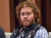 SAN FRANCISCO, CA - OCTOBER 06: Actor T. J. Miller speaks onstage during 'Silicon Valley Vs. Silicon Valley—Inside HBO's Hit Show' at the Vanity Fair New Establishment Summit at Yerba Buena Center for the Arts on October 6, 2015 in San Francisco, California. (Photo by Mike Windle/Getty Images for Vanity Fair)