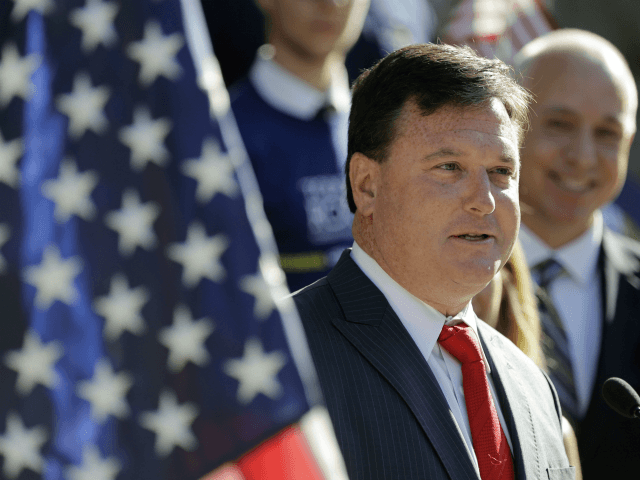 In this Aug. 9, 2017, file photo, Rep. Todd Rokita, R-Ind., speaks during a news conference outside of the Indiana Statehouse in Indianapolis. Rep. Luke Messer is running for Senate in Indiana, though he primarily lives with his family in suburban Washington. One of his chief primary rivals, fellow Rep. …