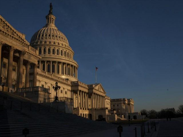 U.S. Capital at night