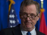 US Trade Representative Robert Lighthizer looks on during a press conference at the conclusion of the fourth round of negotiations for a new North American Free Trade Agreement (NAFTA) at the General Services Administration headquarters in Washington, DC on October 17, 2017. / AFP PHOTO / ANDREW CABALLERO-REYNOLDS (Photo credit …