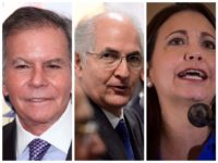 Collage: Maria Corina Machado, the recently exiled mayor of Caracas Antonio Ledezma, and former Venezuelan Ambassador to the United Nations Diego Arria.