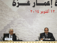 Palestinian president Mahmud Abbas and Egyptian President Abdel Fattah al-Sisi attend the opening session of the Gaza Donor Conference in Cairo on October 12, 2014, aimed at helping the Gaza Strip pummelled by the 50-day war between Israel and Hamas militants earlier this year. Some 50 countries are to attend …