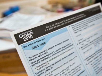 A copy of a 2010 Census form is shown at a Census Day event. (Charlie Litchfield/Idaho Press-Tribune via AP)