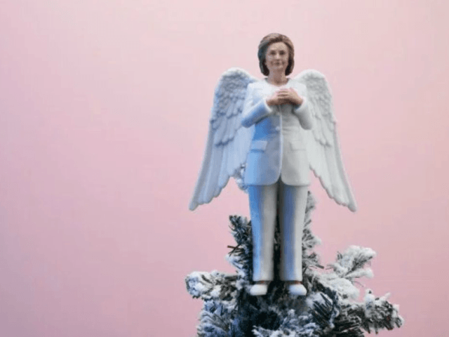 Not getting what you want for Christmas? Don't worry, this Hillary tree topper has an excuse for it!