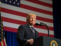 US President Donald Trump speaks about his administration's National Security Strategy at the Ronald Reagan Building and International Trade Center in Washington, DC, December 18, 2017. President Donald Trump rolled out his first 'National Security Strategy', a combative document designed to put meat on the bones of his 'America First' …
