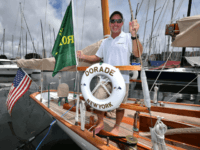 The skipper of US racing yacht 'Dorade', Kevin Milllar, speaks to the media at the official launch of the Sydney to Hobart Yacht Race 2017 at the Cruising Yacht Club of Australia in Sydney on November 29, 2017. The annual Sydney to Hobart yacht race will take place on December 26. The Dorade is an 86-year-old American Sparkman & Stephens classic yacht and the oldest competing in this year's race. / AFP PHOTO / PETER PARKS / --IMAGE RESTRICTED TO EDITORIAL USE - STRICTLY NO COMMERCIAL USE-- (Photo credit should read PETER PARKS/AFP/Getty Images)