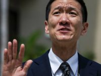 Hawaii State Attorney General Douglas Chin speaks at a press conference in front of the Prince Jonah Kuhio Federal Building and US District Courthouse on March 15, 2017 in Honolulu, Hawaii. Attorneys for the state of Hawaii filed a lawsuit to stop President Donald Trump's revised travel ban. / AFP …