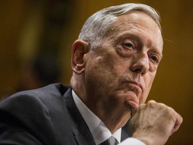 Jim Mattis, U.S. Secretary of Defense, listens during a Senate Foreign Relations Committee hearing in Washington, D.C., U.S., on Monday, Oct. 30, 2017. President Donald Trump's secretaries of state and defense told Congress that Trump has all the authority he needs to fight terrorism with U.S. forces from Niger to Syria, after lawmakers from both parties raised concern about the extent of military deployments. Photographer: Zach Gibson/Bloomberg via Getty Images