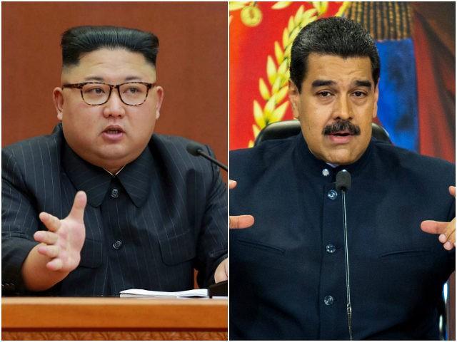 Kim Jong-un and NIcolas Maduro