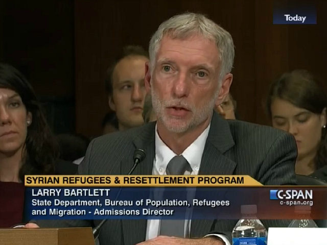 Larry Bartlett Director of the Office of Refugee Admissions in the State Department's Bureau of Population Refugees