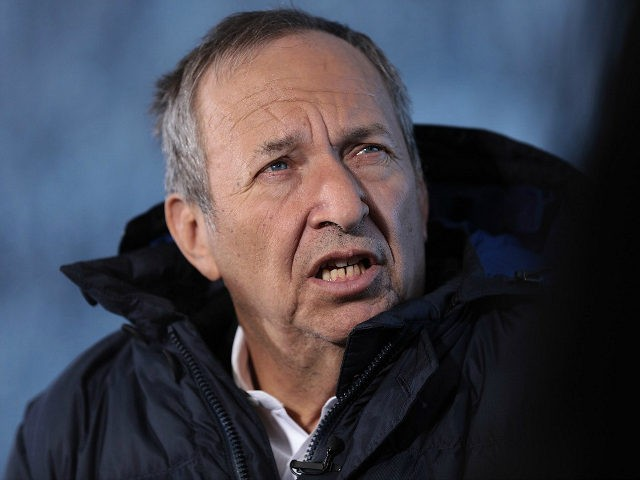 Lawrence Summers, former U.S. Treasury secretary, speaks during a Bloomberg Television interview at the World Economic Forum (WEF) in Davos, Switzerland, on Friday, Jan. 20, 2017. World leaders, influential executives, bankers and policy makers attend the 47th annual meeting of the World Economic Forum in Davos from Jan. 17 - 20. Photographer: Simon Dawson/Bloomberg via Getty Images