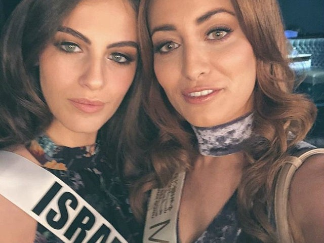 Miss Israel Adar Gandelsman and Miss Iraq Sarah Idan, Miss Universe 2017