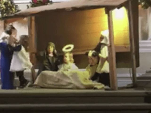 'Sheep' steals baby Jesus, 'Mary' rescues him in Christmas performance