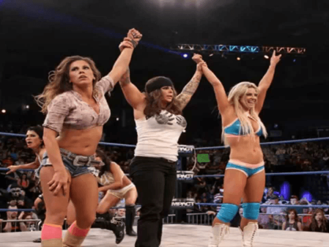 The WWEu0027s female wrestlers are well known for their skin-baring costumes but that habit took a radically different turn as the women geared up this month ...  sc 1 st  Breitbart & WWE Female Wrestlers Wear Body-Covering Costumes for Match in Abu Dhabi