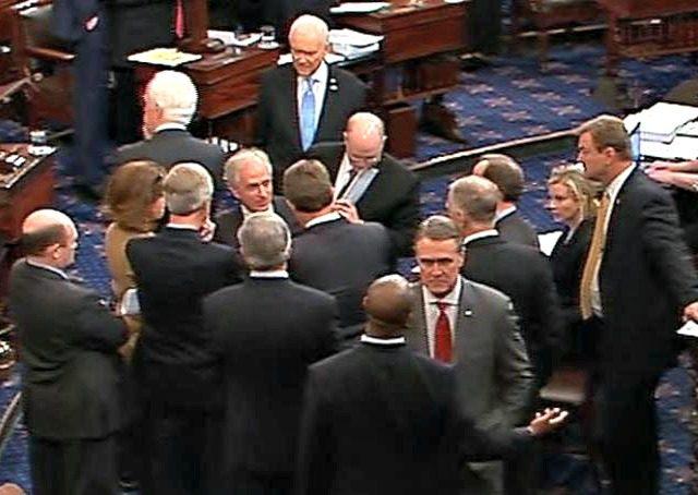 Voting on Senate Floor