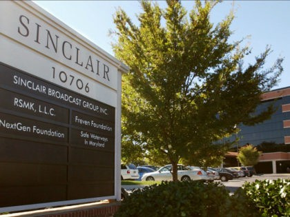 FILE - In this Tuesday, Oct. 12, 2004, file photo, Sinclair Broadcast Group, Inc.'s headquarters stands in Hunt Valley, Md. Sinclair Broadcast Group, one of the nation's largest local TV station operators, announced Monday, May 8, 2017, that it will pay about $3.9 billion for Tribune Media, adding more than …