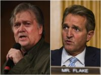 Steve Bannon and Jeff Flake